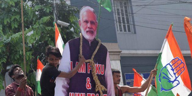 A protest against Narendra Modi in