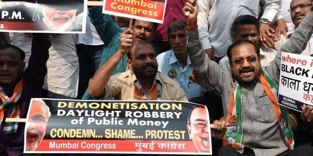Congress Launches Nation-Wide Protests Against Demonetisation, Demands RBI Guv's