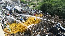 Farmers' March: Police Use Water Cannon And Tear Gas To Stop Protesters At Delhi-UP