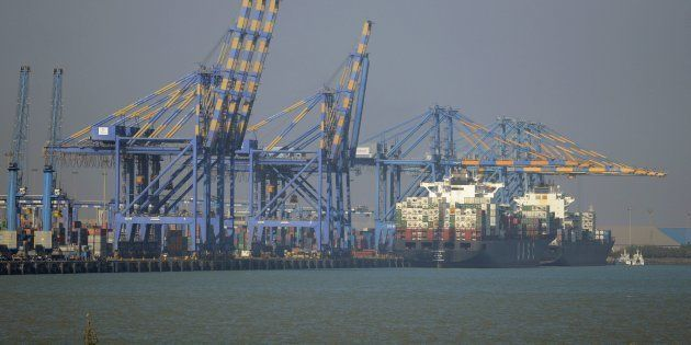 A view of the Adani Port Special Economic Zone in Mundra. Image for representational purposes