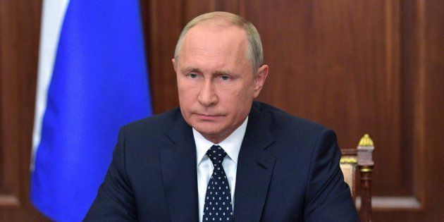 Russian President Vladimir Putin in a file
