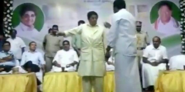 Kiran Bedi Tries To Stop AIADMK MLA From Speaking On Stage, Leads To Public