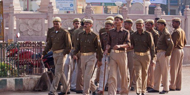 A file photo of policemen in Uttar Pradesh. Image for representational purposes
