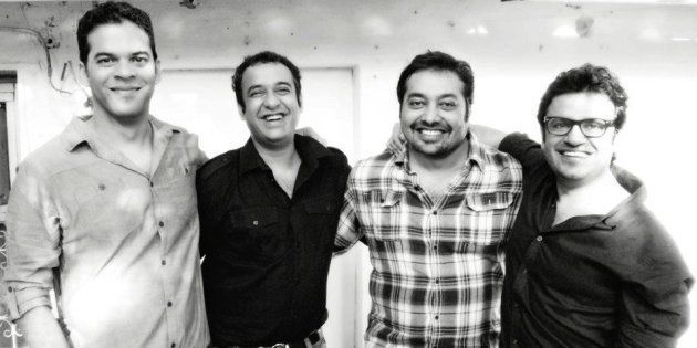 Vikramaditya Motwane, Madhu Mantena, Anurag Kashyap, Vikas Bahl, the four founders of Phantom Films