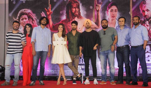 Anurag Kashyap and Madhu Mantena at the launch of Udta Punjab in