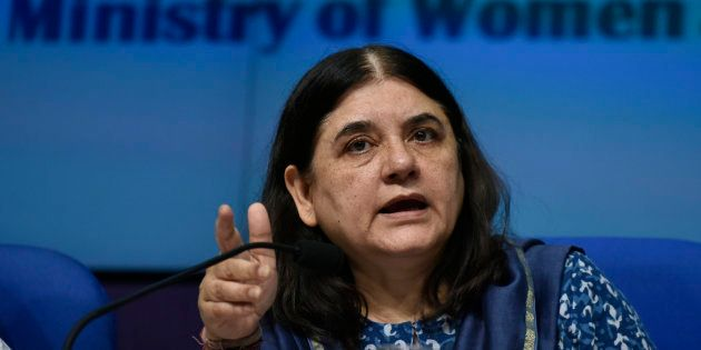 Union Women and Child Development Minister Maneka Gandhi releases the Draft Trafficking of Persons (Prevention,...