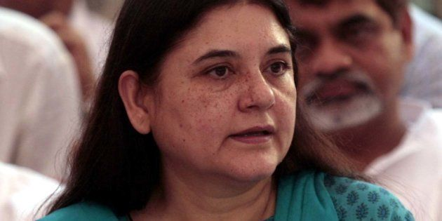 Maneka Gandhi in a file