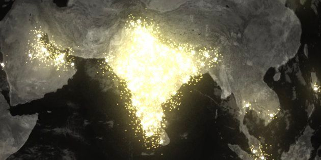 Google's Me Too Rising visualisation shows all of India brightly lit up with people searching for information...