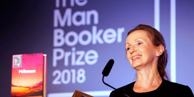Writer Anna Burns after she was presented with the Man Booker Prize for Fiction 2018 on Tuesday in