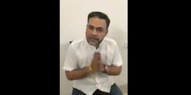 Ashish Pandey, the gun-toting son of a former BSP MP, in a