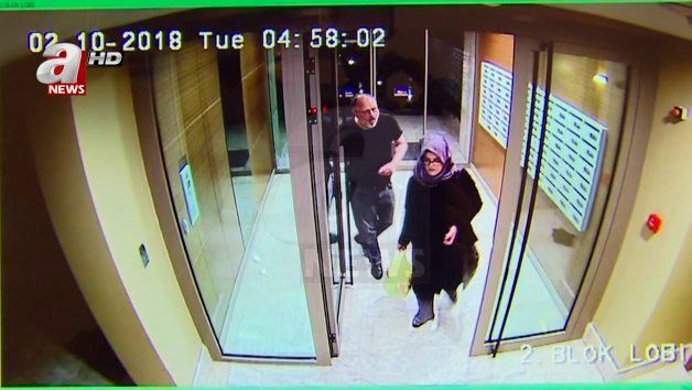 In this image taken from CCTV video that emerged Monday Oct. 22, 2018, purportedly showing Saudi writer...