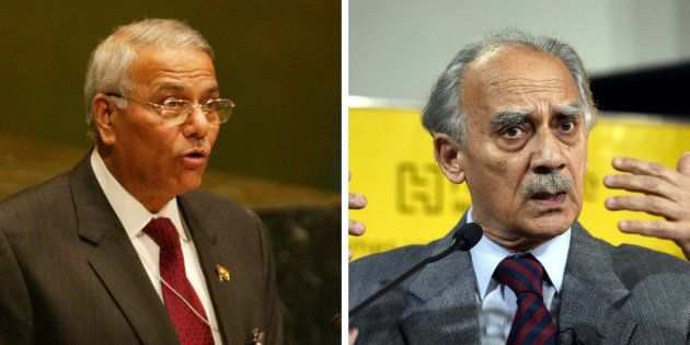 Yashwant Sinha and Arun Shourie in file