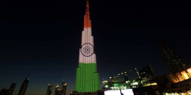The world's tallest building will be lit up in the colours of the Indian National