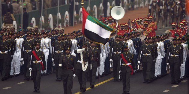 In A First, Military Contingent Of UAE Participates In The 68th Republic Day