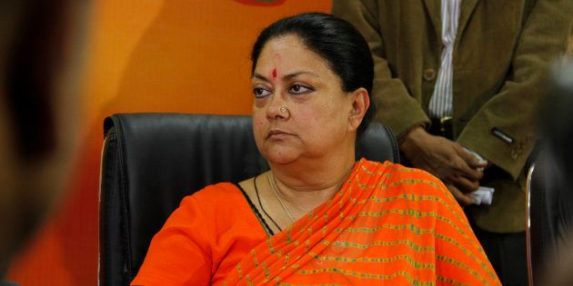 Vasundhara Raje in a file