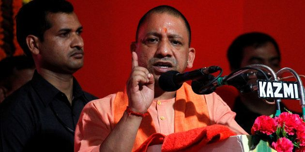 Yogi Adityanath in a file