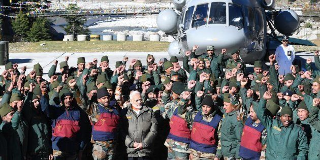 Narendra Modi spends Diwali with army and ITBP