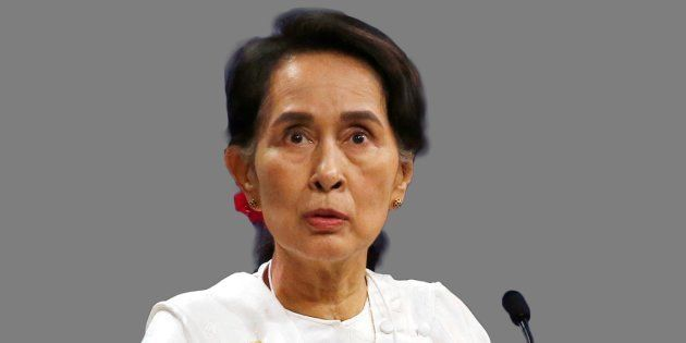 Aung San Suu Kyi in a file