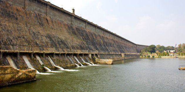 Krishnarajsagara dam at the