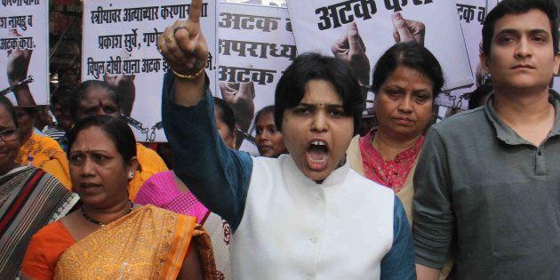 Activist Trupti Desai during a