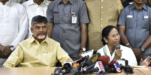 A file photo of Chandrababu Naidu and Mamata