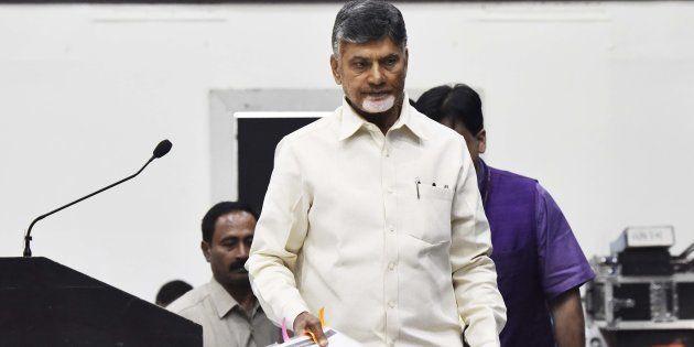 A file photo of Chief Minister of Andhra Pradesh Chandrababu