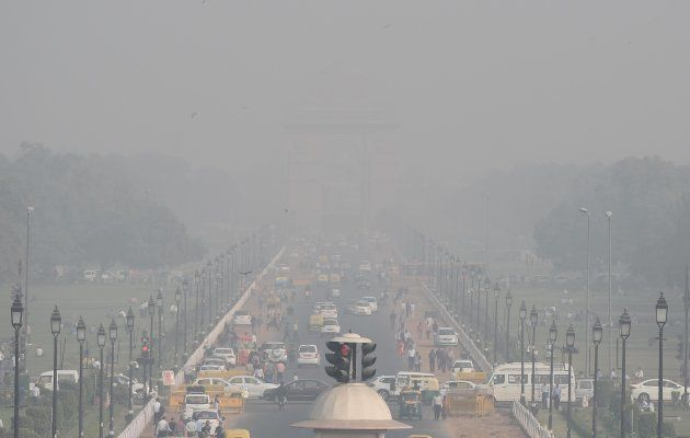 A view from earlier this month of the India Gate, engulfed in a thick layer of smog.