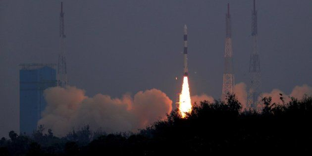 Lift-off image of PSLVC43 carrying 31 satellite