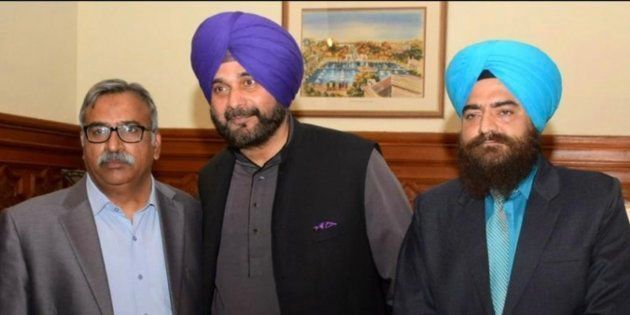 Navjot Singh Sidhu with Gopal Singh