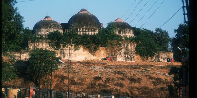 The Babri Masjid before it was