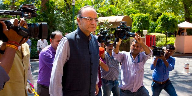 Indian Finance Minister Arun Jaitley in a file