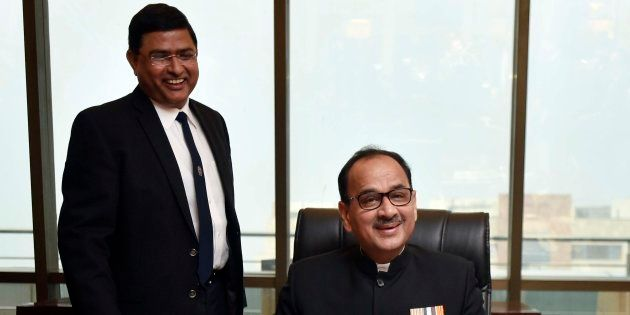 Alok Verma and Rakesh Asthana in a file