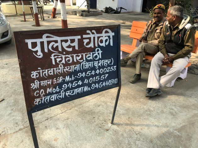 Chingravati police post which was attacked by a mob on December
