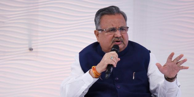 Chief Minister Raman Singh in a file