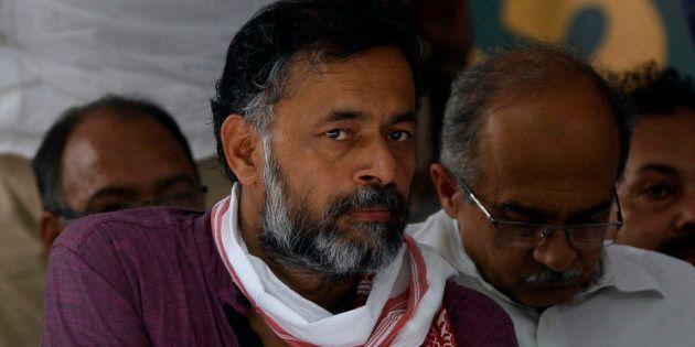Yogendra Yadav in a file