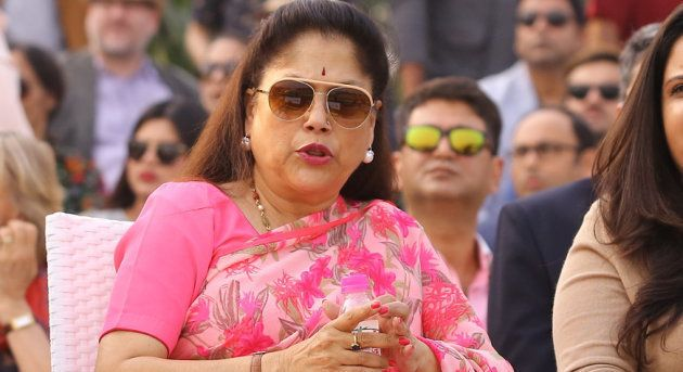 NEW DELHI, INDIA - NOVEMBER 26: BJP Leader Yashodhara Raje Scindia (C) during Indian open polo championship...