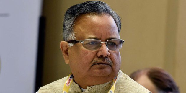 Chhattisgarh Chief Minister Raman Singh in a file