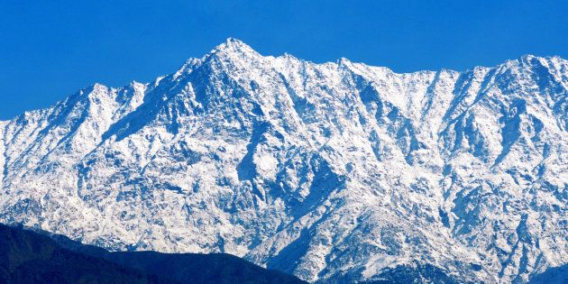 A file photo of the snow covered Dhauladhar range, on November 15, 2018, in