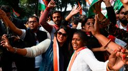 BJP Office In Delhi Deserted, Celebrations At Congress