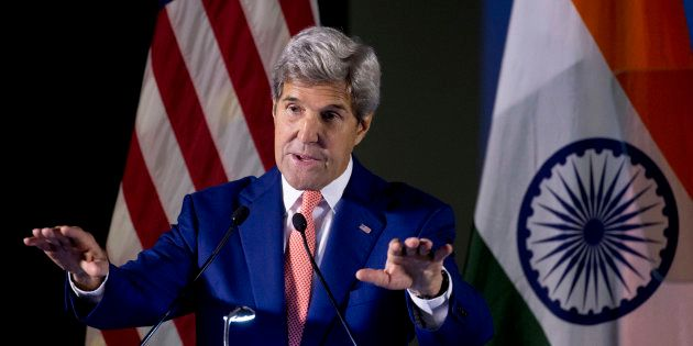 U.S. Secretary of State John Kerry addresses students at Indian Institute of Technology (IIT) in New...