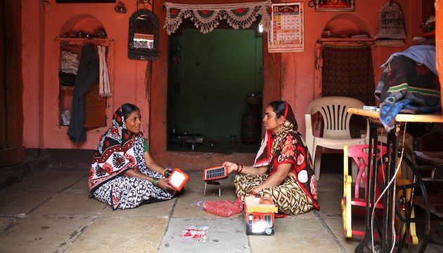 Solar lamps are a clean energy option for rural