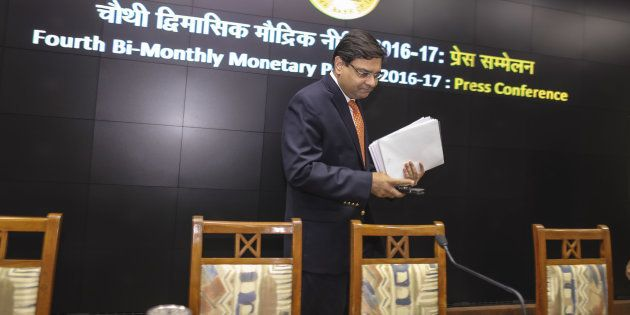 Urjit Patel, governor of the Reserve Bank of India