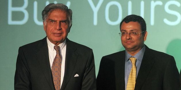 File photo of Ratan Tata (L) and Cyrus