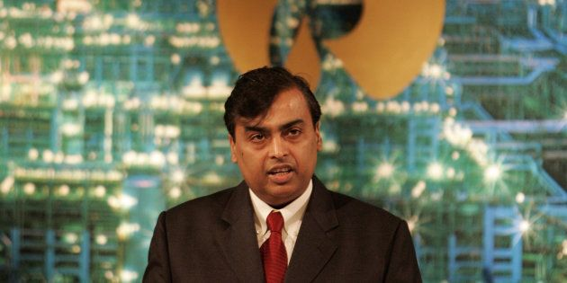 Mukesh Ambani Chairman Reliance Industries Ltd speaks during company's annual general