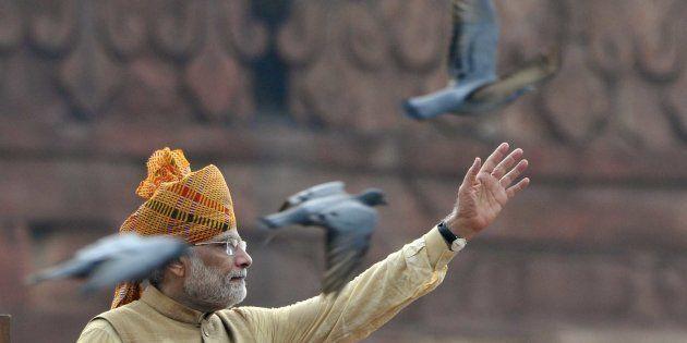 Prime Minister Narendra Modi. (Photo by Mohd Zakir/Hindustan Times via Getty