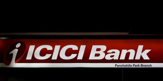 A signboard of the ICICI bank is pictured outside a bank in New Delhi, India, March 4, 2016. REUTERS/Adnan