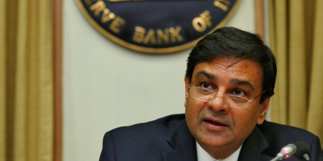 The Reserve Bank of India (RBI) Governor Urjit Patel speaks during a news conference after the bimonthly...