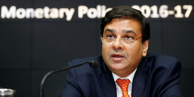 The Reserve Bank of India Governor Urjit Patel speaks during a news