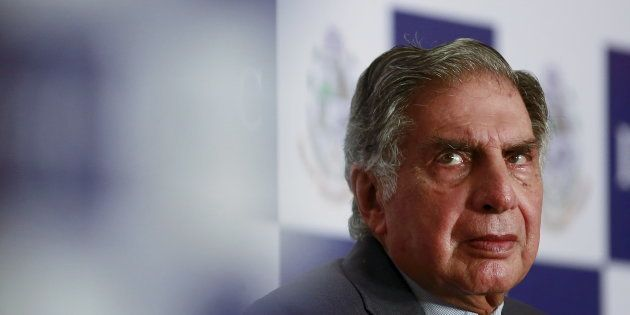 Tata Group Chairman Emeritus Ratan Tata attends a panel discussion during the annual general meeting...