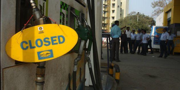 Petrol Pump near Mira Bhayander Road was closed because of petrol strike in